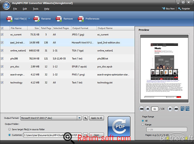 AnyMP4 PDF Converter Ultimate