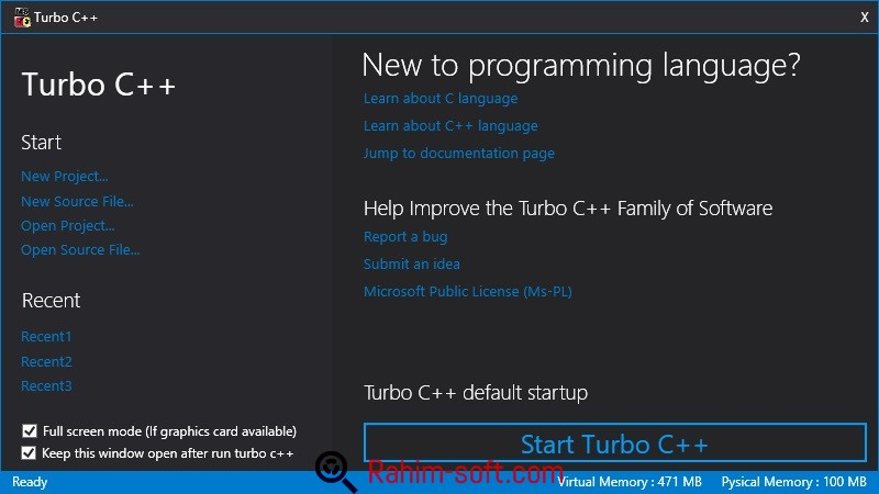 turbo c++ 4.5 free  for windows xp 32 bit