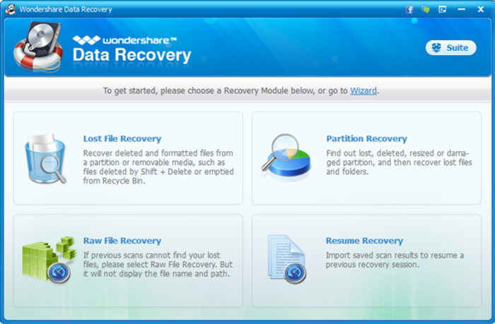 Wondershare Data Recovery 5.0