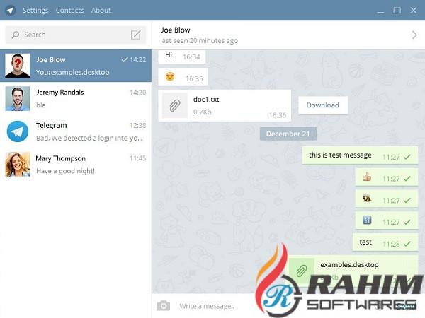 Telegram Desktop 1.7.14 Free Download