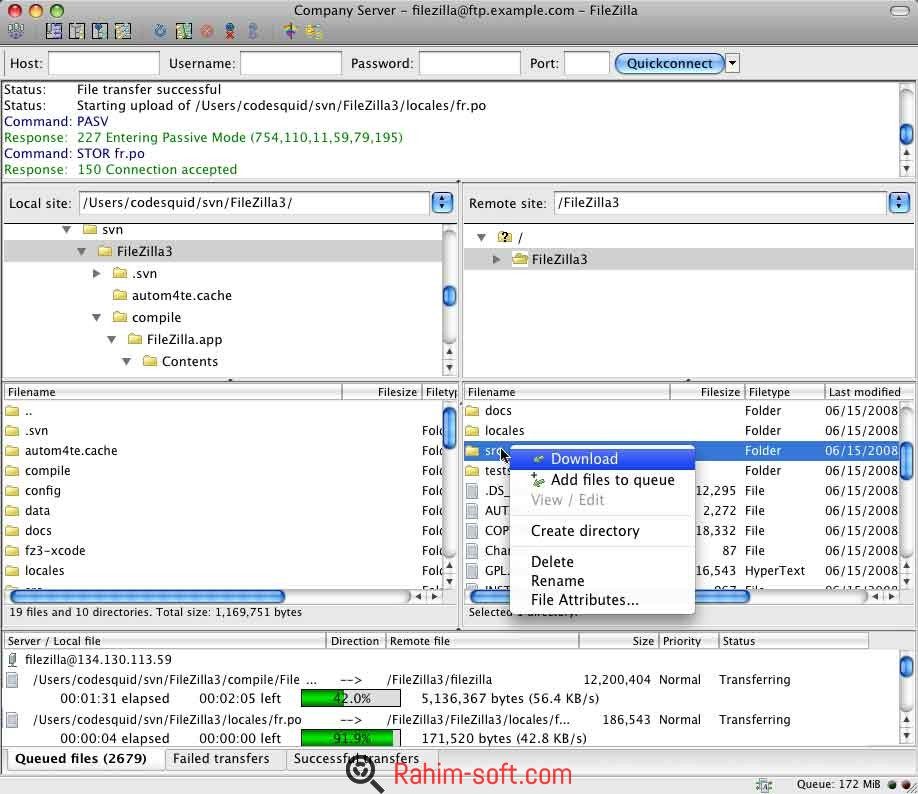 FileZilla v3.16.0