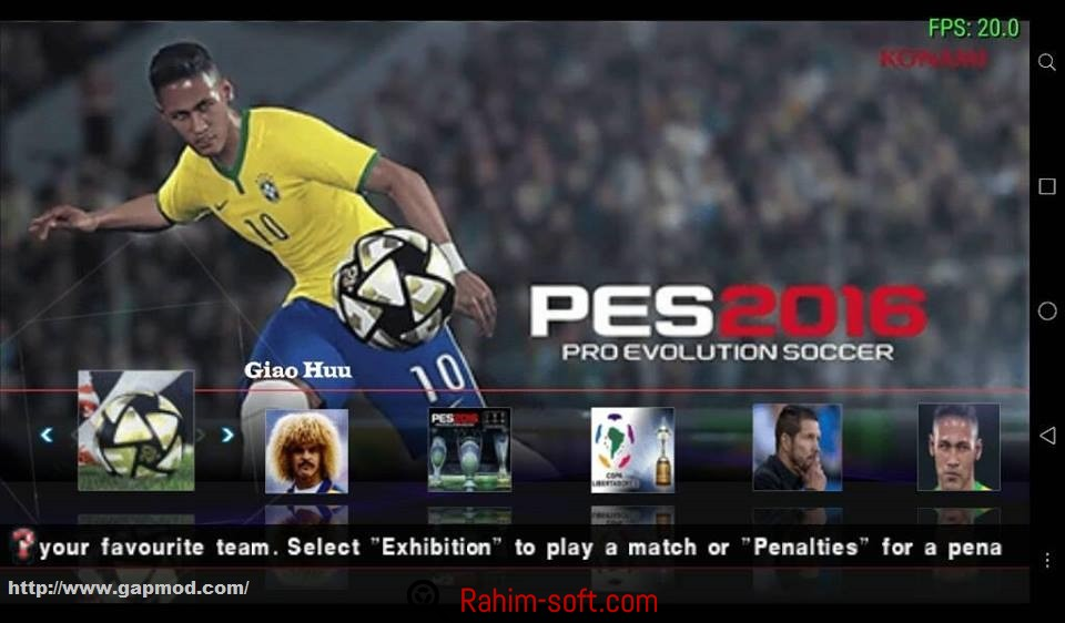 Pro Evolution Soccer 2016 Android