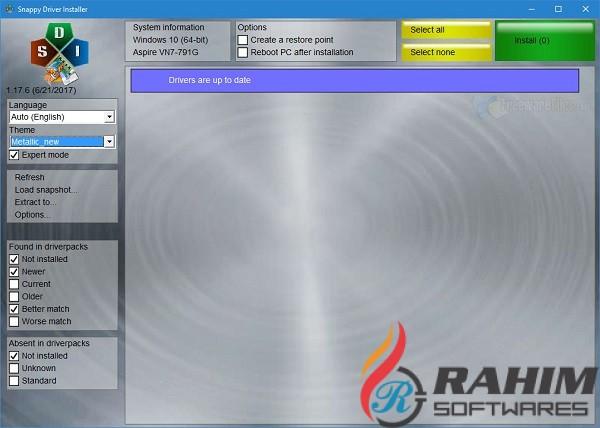 Snappy Driver Installer 2020 v1.20 Offline Free Download