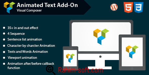 Animated Text Add-on for Visual Composer v1