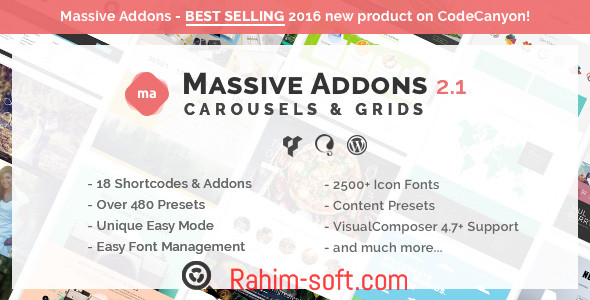 Massive Addons for Visual Composer Collections Pack v2.1.1