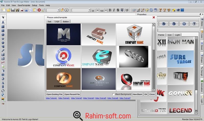 Aurora 3D Text & Logo Maker 16.1 with Keygen