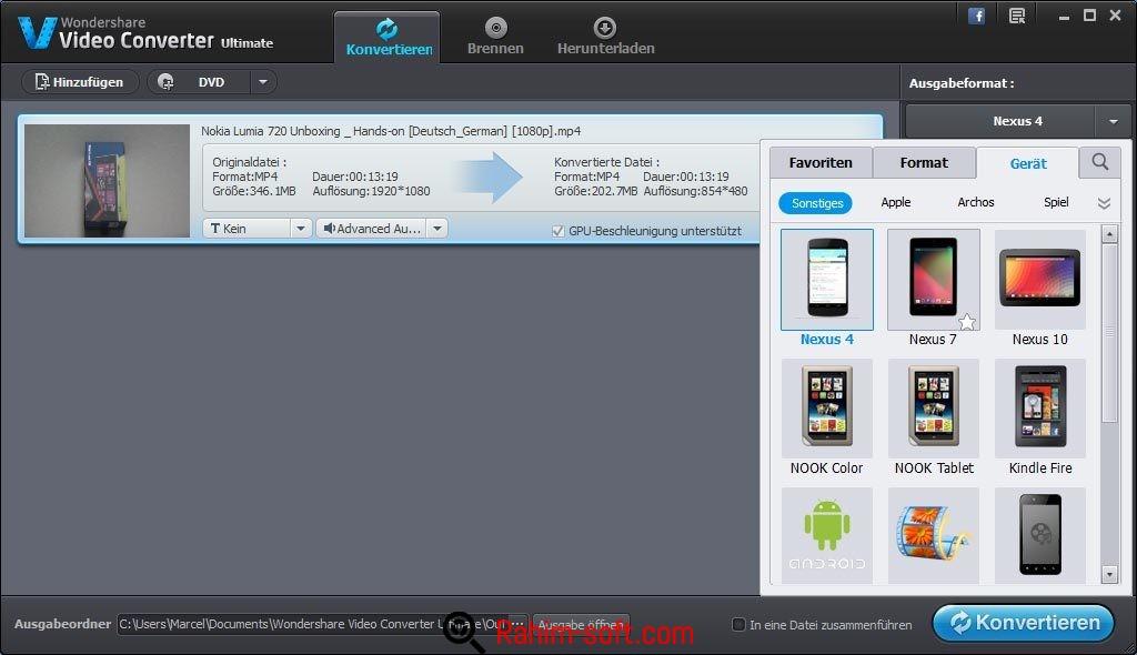Wondershare Video Converter Ultimate v9.0.0.4 Free download