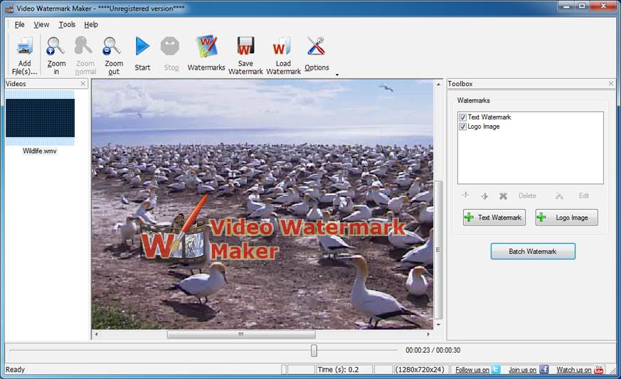 Video Watermark Maker 1.3 Free Download