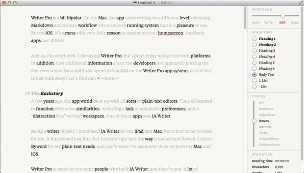 IA writer pro 4.0 Mac Free Download