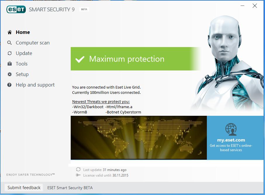 ESET Internet Security 10.0 Free Download