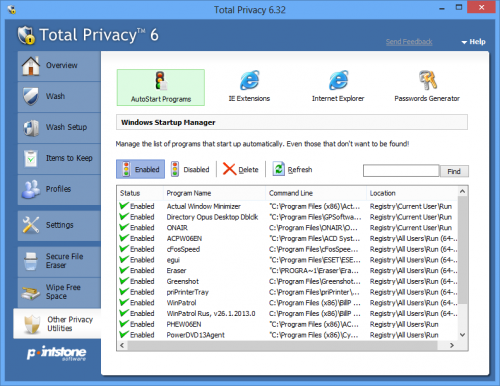 Pointstone Total Privacy 6.54.380 Free Download