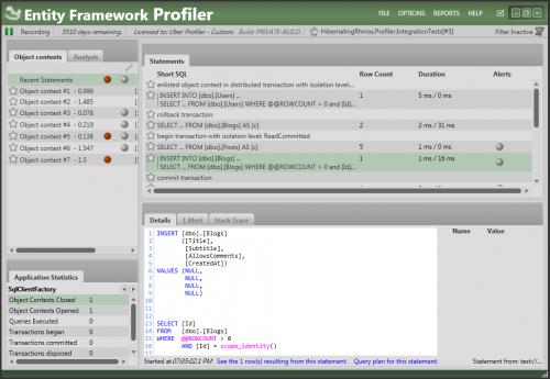 Entity Framework Profiler 4.0 Free Download