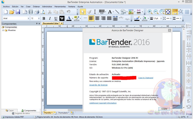 BarTender Enterprise Automation 2016 11.0.1.3045 Free Download