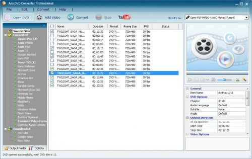 Any DVD Converter Professional 6.1.6 Free Download