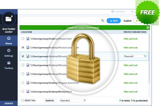 Anvi Folder Locker Software Free Download