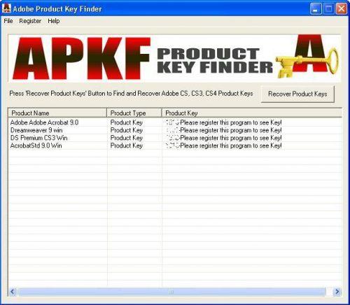 Apkf Adobe Product Key Finder 2 4 5 0 Portable Free Download