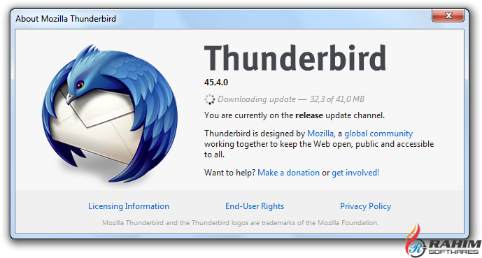 Mozilla Thunderbird 52 Free Download