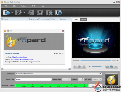 Tipard DVD Creator 5.1.10 Portable Free Download