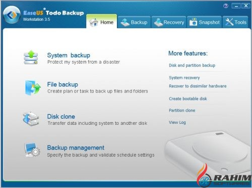 EaseUS Todo Backup Workstation 10.5 Free Download