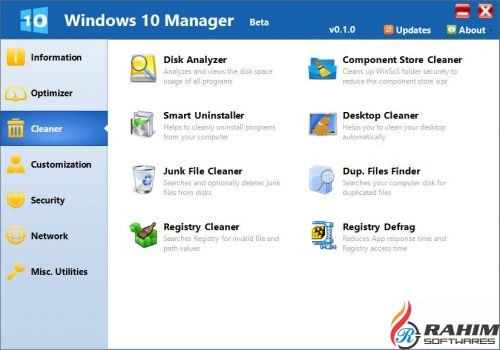Windows 10 Manager 2.2.9 Portable Free Download