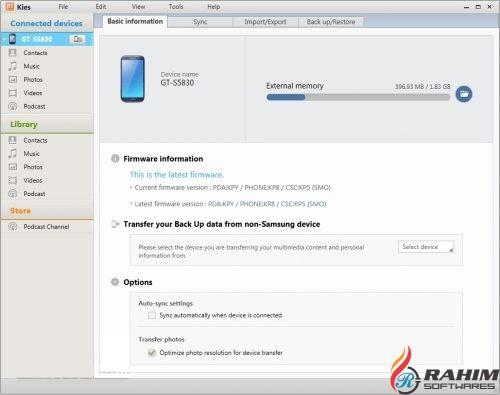 Samsung Kies 2.6.4 Free Download