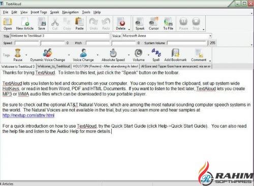 TextAloud 3 Free Download