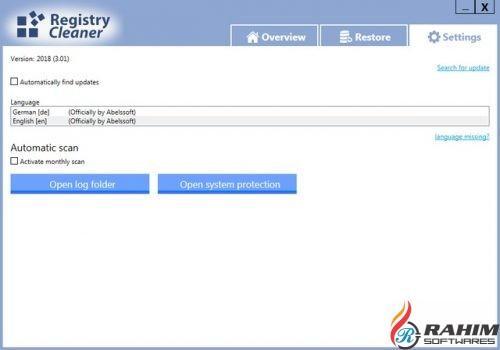 Abelssoft Registry Cleaner 2018 Free Download