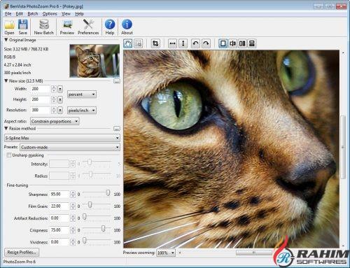 Benvista PhotoZoom Pro 7 Portable Free Download