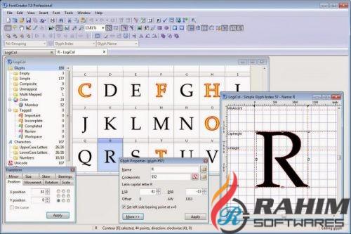 FontCreator Professional 11 Free Download