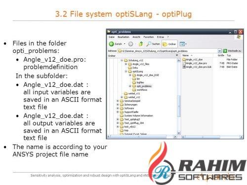 ANSYS optiSLang 7 Free Download