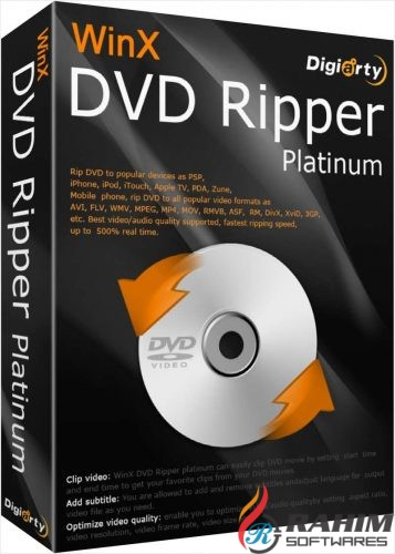 WinX DVD Ripper Platinum 8.8 Portable Free Download