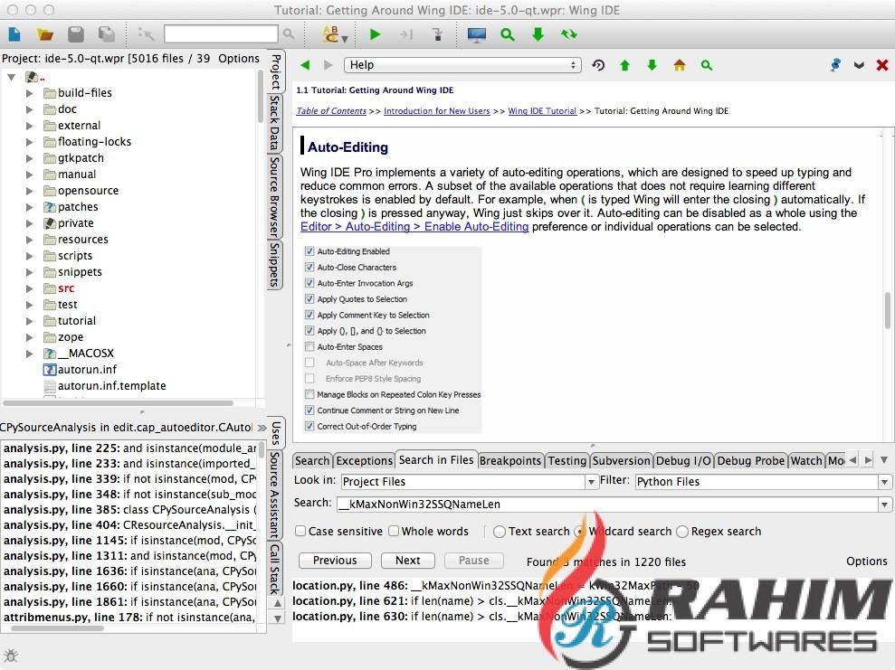 Wing IDE Professional 6 Free Download - Rahim soft