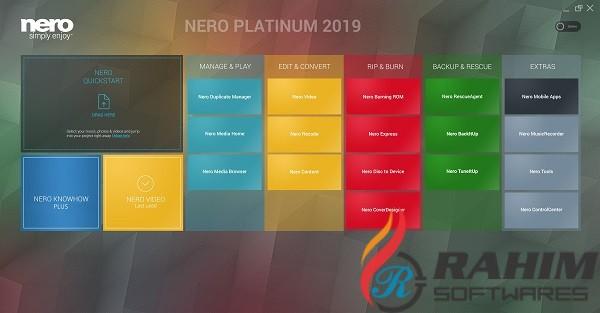 Nero 2019 Platinum Suite Free Download