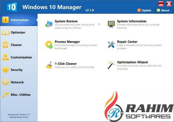 Yamicsoft Windows 10 Manager 3 Download Direct Link