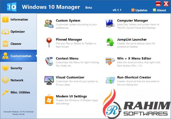 Yamicsoft Windows 10 Manager 3 Free Download