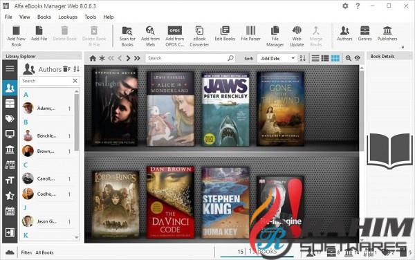 Download Alfa eBooks Manager Web 8.1 Portable Free