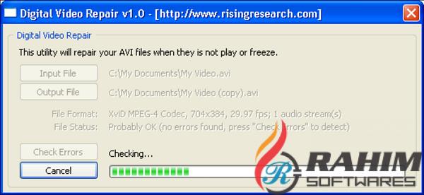 Download Digital Video Repair 3.6.0 Portable Free