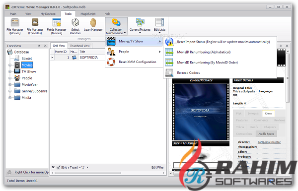 Download Extreme Movie Manager 10 Free