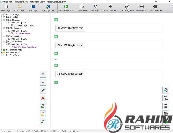 Arclab Web Form Builder 5.1 Free Download