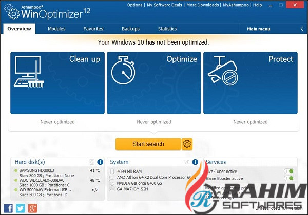 Ashampoo WinOptimizer 17.0 Free Download