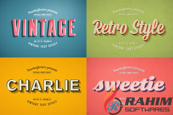 Vintage Text Effects Free Download for Photoshop