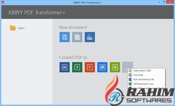 ABBYY PDF Transformer 12.0 Free Download