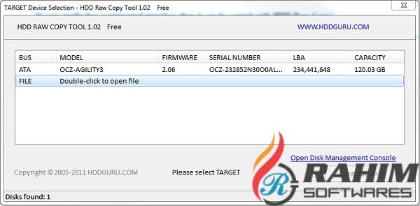 HDD Raw Copy Tool 1.10 Portable Free Download