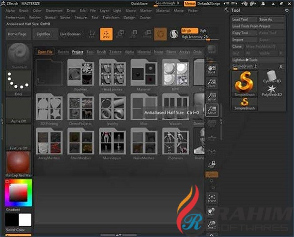 Pixologic ZBrush 2020 Free Download