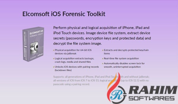 Elcomsoft iOS Forensic Toolkit 5.20 Free Download