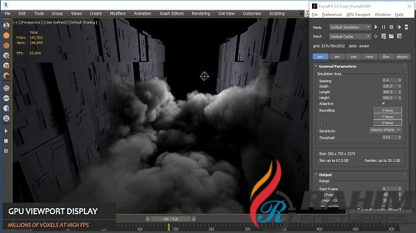 FumeFX 5.0.5 for 3ds Max-Cinema 4D Free Download