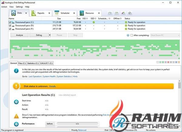 Auslogics Disk Defrag Pro 9.4 Portable Free Download