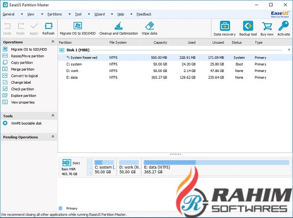 EASEUS Partition Master Professional 13.8 Portable Free Download