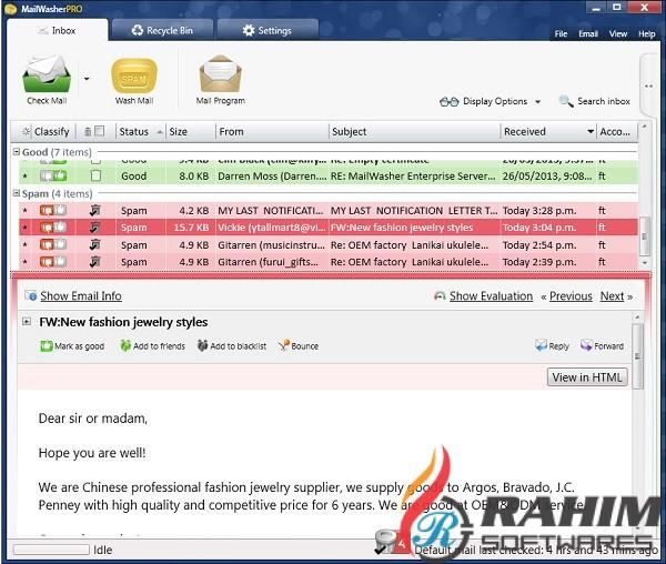 MailWasher Pro 7.12 Portable Free Download
