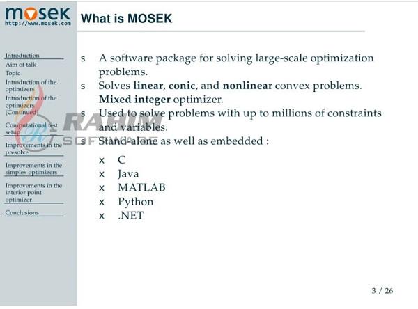 Mosek APS MOSEK 7.1 Free Download